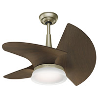 Orchid 30 inch Pewter Revival with Walnut Blades Ceiling Fan