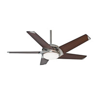 Casablanca 59164 Stealth DC 54 inch Brushed Nickel with Walnut Blades Indoor Ceiling Fan