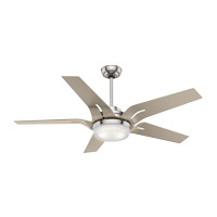 Correne 56 inch Brushed Nickel with Champagne Blades Indoor Ceiling Fan