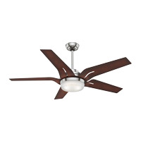 Correne 56 inch Brushed Nickel with Coffee Beech Blades Indoor Ceiling Fan