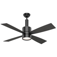 Bullet 54 inch Matte Black with Reversible Black Oak/Eastern Walnut Veneer Blades Ceiling Fan