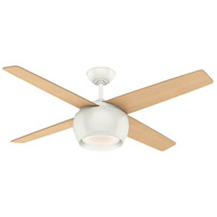 Valby 54 inch Fresh White with Reversible Natural Maple/Eastern Walnut Plywood Blades Ceiling Fan