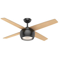 Casablanca 59332 Valby 54 inch Matte Black with Reversible Walnut/Maple Plywood Blades Ceiling Fan