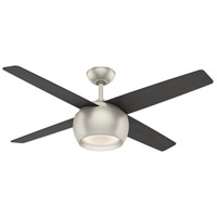 Valby 54 inch Matte Nickel with Reversible Black Oak/Eastern Walnut Plywood Blades Ceiling Fan