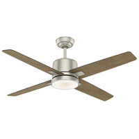 Axial 52 inch Matte Nickel with Reversible River Timber/Grey Washed Veneer Blades Ceiling Fan
