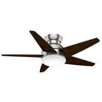 Isotope 44 inch Brushed Nickel with Reversible Espresso Veneer Blades Ceiling Fan