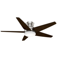 Isotope 52 inch Brushed Nickel with Reversible Espresso Veneer Blades Ceiling Fan