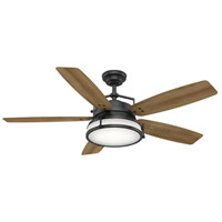 Caneel Bay 56 inch Aged Steel with Reversible White Washed Oak Plastic Blades Outdoor Ceiling Fan