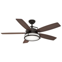 Caneel Bay 56 inch Maiden Bronze with Reversible Smoked Walnut Plastic Blades Outdoor Ceiling Fan