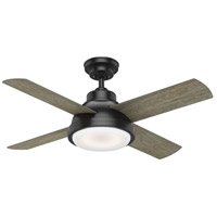 Levitt 44 inch Matte Black with Reversible Barnwood/Rustic Oak Blades Ceiling Fan