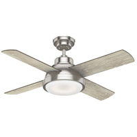 Levitt 44 inch Brushed Nickel with Reversible Light Grey Oak/Barnwood Blades Ceiling Fan