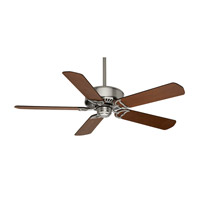 Panama 54 inch Brushed Nickel with Walnut / Burnt Walnut Blades Indoor Ceiling Fan