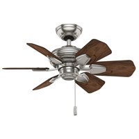Wailea 31 inch Brushed Nickel with Dark Walnut Blades Ceiling Fan