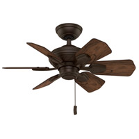 Wailea 31 inch Brushed Cocoa with Dark Walnut Blades Ceiling Fan
