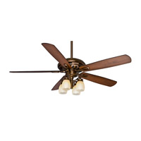Holliston 60 inch Bronze Patina with Walnut / Burnt Walnut Blades Indoor Ceiling Fan