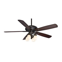 Casablanca Holliston 4 Light Indoor Ceiling Fan in Bullion Black 59537