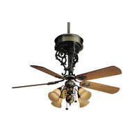 Casablanca New Orleans Centennial 4 or 5 Blade 54 inch Celing Fan (Motor Only) in Antique Brass (Blades Sold Separately) 6944D