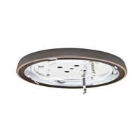 Casablanca Fan Accessory 1 Light Fan Low Profile Fitter in Brushed Cocoa 99068
