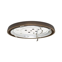 Casablanca Fan Accessory 1 Light Fan Low Profile Fitter in Maiden Bronze 99069