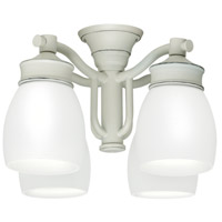 Casablanca Fan Accessory 4 Light Fan Light Kit in Cottage White 99089