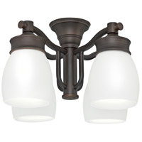 Signature 14 inch Brushed Cocoa Outdoor Fan Light Kit