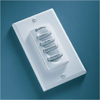 Casablanca Fans InteliTouch3 6 Speed Switchplate Fan Control in White W-84 photo thumbnail