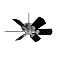 Casablanca Wailea 6 Blade 31 inch Celing Fan with Blades in Brushed Nickel with Matte Black Blades 41U45D