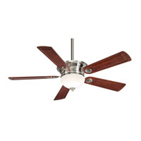 Casablanca Whitman 5 Blade 54 inch Ceiling Fan Unipack in Brushed Nickel with Dark Cherry Blades C21G45H