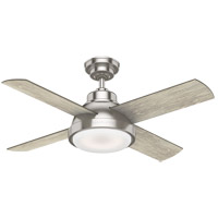 Casablanca 59436 Levitt 44 inch Brushed Nickel with Brushing Barnwood Rustic Oak Blades Ceiling Fan