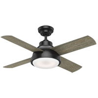 Casablanca 59435 Levitt 44 inch Matte Black with Brushing Barnwood, Rustic Oak Blades Ceiling Fan
