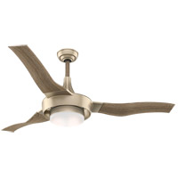Perseus 64 inch Metallic SunSand with Drift Oak, Drift Oak Blades Ceiling Fan