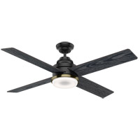 Casablanca 59414 Daphne 54 inch Matte Black with Sea Salt Black, Eastern Walnut Blades Ceiling Fan