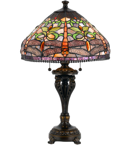 Cal Lighting BO-2355TB Tiffany 26 inch 60 watt Antique Bronze Table Lamp Portable Light photo