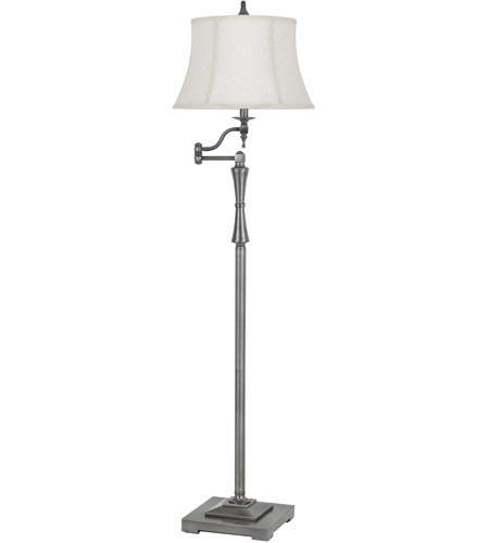 Cal Lighting BO-2443SWFL-AS Madison 61 inch 150 watt Antiqued Silver Swing Arm Floor Lamp Portable Light photo thumbnail