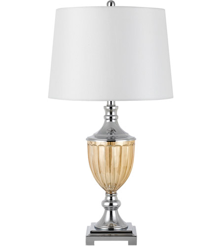 Cal Lighting Chrome Glass Table Lamps