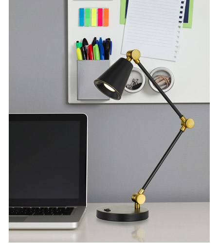 Cal Lighting BO-2773DK-DB Atchison 25 inch 10 watt Dark Bronze Desk Lamp Portable Light alternative photo thumbnail