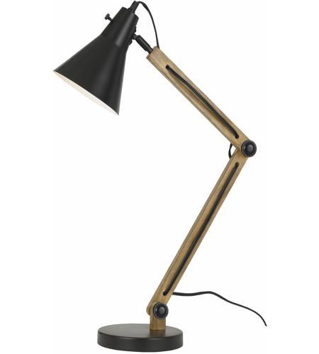 Cal Lighting Bo 2776dk Scotia 29 Inch 60 Watt Dark Bronze And Wood Desk Lamp Portable Light