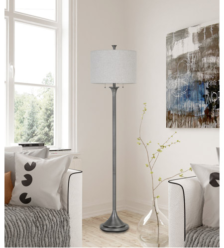 Cal Lighting BO-2786FL-AS Cosenza 65 inch 60 watt Antiqued Silver Floor Lamp Portable Light photo thumbnail