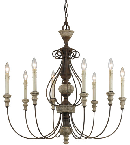 Cal Lighting Rust Metal Chandeliers