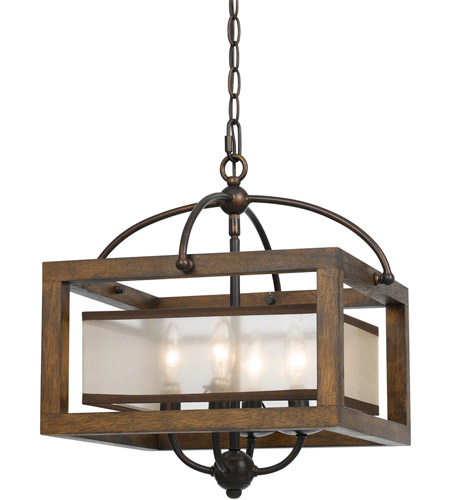 cal lighting fx 3536 1c signature 4 light 16 inch wood semi flush