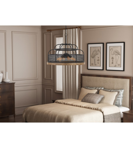 Cal Lighting Iron Wood Chandeliers