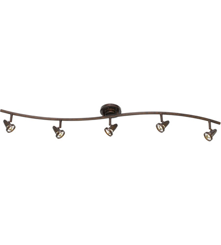 Cal Lighting SL-808-5-RU Serpentine 5 Light Rust Rail Fixture Ceiling Light photo thumbnail