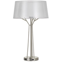 Cal Lighting BO-2759TB Lawton 28 inch 100 watt Brushed Steel Table Lamp Portable Light