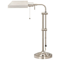 Pharmacy 22 inch 60 watt Brushed Steel Table Lamp Portable Light, Adjustable Pole
