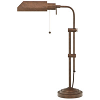 Pharmacy 22 inch 60 watt Rust Table Lamp Portable Light, Adjustable Pole