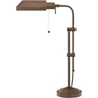Cal Lighting BO-117TB-RU Pharmacy 22 inch 60 watt Rust Table Lamp Portable Light Adjustable Pole
