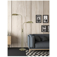 Cal Lighting BO-127FL-2L-AB Pharmacy 58 inch 60 watt Antique Brass Floor Lamp Portable Light Dual Height