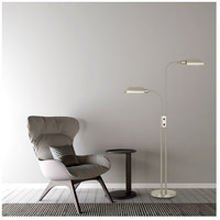 Cal Lighting BO-127FL-2L-BS Pharmacy 58 inch 60 watt Brushed Steel Floor Lamp Portable Light Dual Height