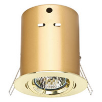Cal Lighting BO-201-PB Signature 12V 4 inch Plated Brass Undercabinet Can