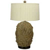 Terra Cotta 33 inch 150 watt Tan Table Lamp Portable Light
